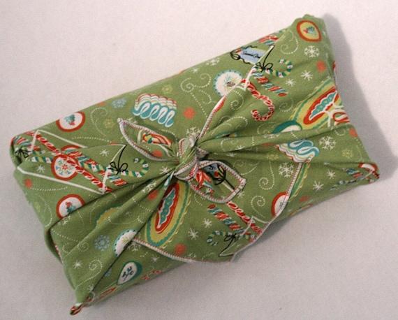 Small Christmas Furoshiki - Candies moss