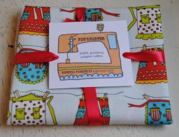 aprons on a line.  Original Fabric Fat Quarter