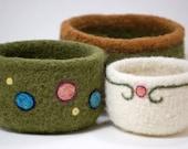 Felted Nesting Bowls- Set of Three