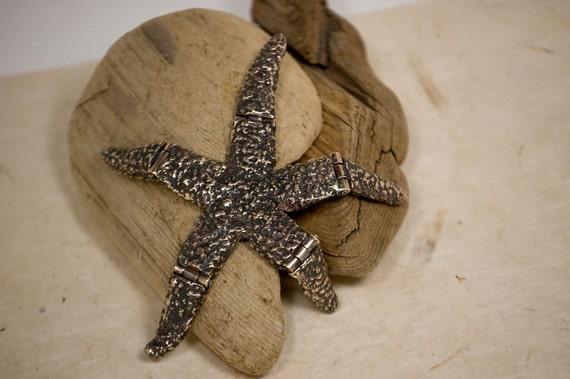 Unique  Nautical Art Toy - Cast Bronze Articulating Starfish