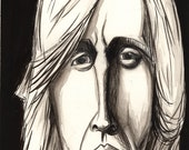 Tom Petty - Original Ink Wash Painting