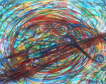 Symbiosis - Original Watercolor Painting