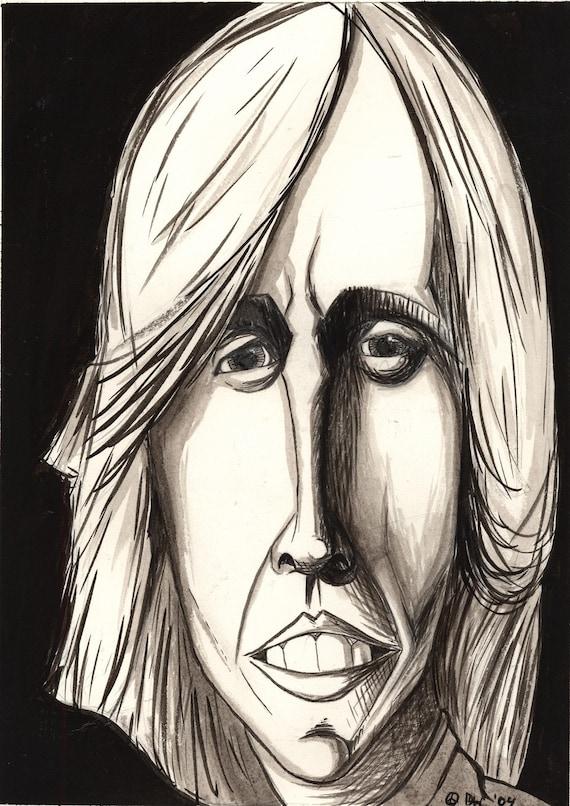 Tom Petty - Original Ink Wash Painting