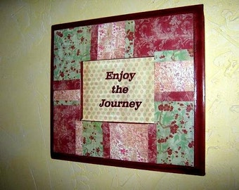 Barn Red Enjoy the Journey Art and Picture Frame