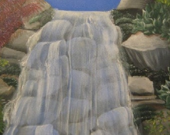 Surreal Waterfall painting