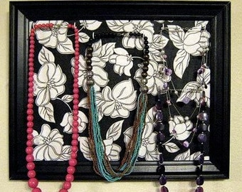 Jewelry Display Frame Unique Large Black and White