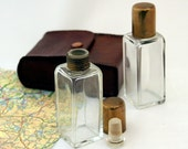 Leather Cased Perfume or Cologne Travel Set Circa 1920