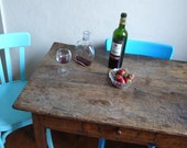 Vintage decanter, carafe, bottle, spirits, aperitif, ricard, blue, sunshine, sun,decorative, wine, water, whisky, alcohol. french vintage