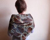 Vintage scarf,  unisex,  leopard  print, lynx,  French vintage accessories by ancienesthetique on Etsy