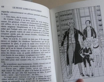 Children's French Book, Little Lord Fauntleroy, Little prince story, 1985 French language, Learning story, European souvenir book