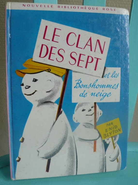 French Vintage childrens book by Enid Blyton. 1969, secret seven, snow, mystery, adventure, back to school, French books and magazines.