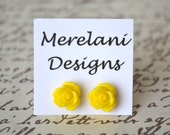 Yellow Roses . Studs . Earrings . Rose Studs Collection