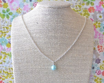Light Blue Pearl . Necklace . Sky Collection