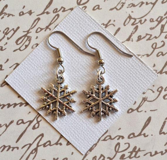 Snowflakes . Earrings