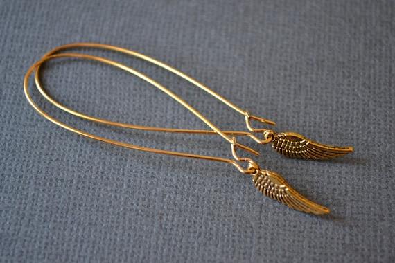 Golden Wings . Earrings