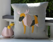Mr. Pink Elk Pillow 14 x 14