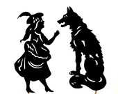 Little Red Riding Hood and Wolf -  Shadow Puppets