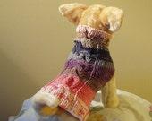 Dog Sweater Hand Knit Fiorista Cable Small Italian Cotton
