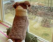 Dog Sweater Hand Knit Sunny  Day Medium