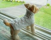 Dog Sweater Hand Knit Irish Fisherman Small