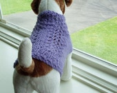 RESERVED FOR ABBY Dog Sweater Hand Knit  Lilac Small