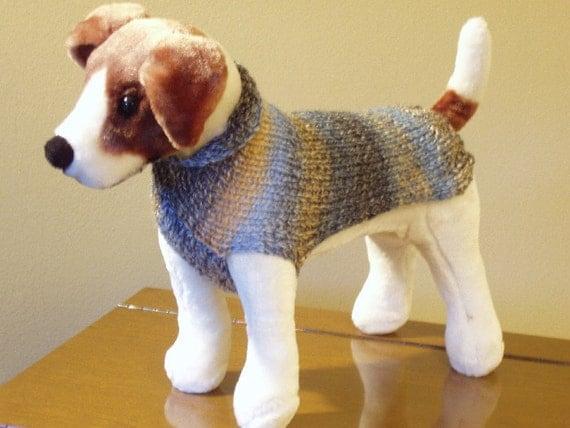 Dog Sweater Hand Knit  Joe  Small  SALE