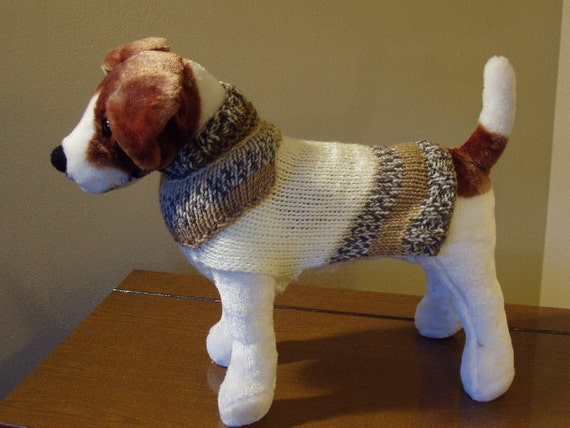 Dog Sweater Hand Knit Let's Walk Small