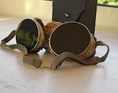 Authentic vintage welding goggles