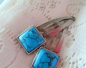 Mexicali Turquoise Snap Clips