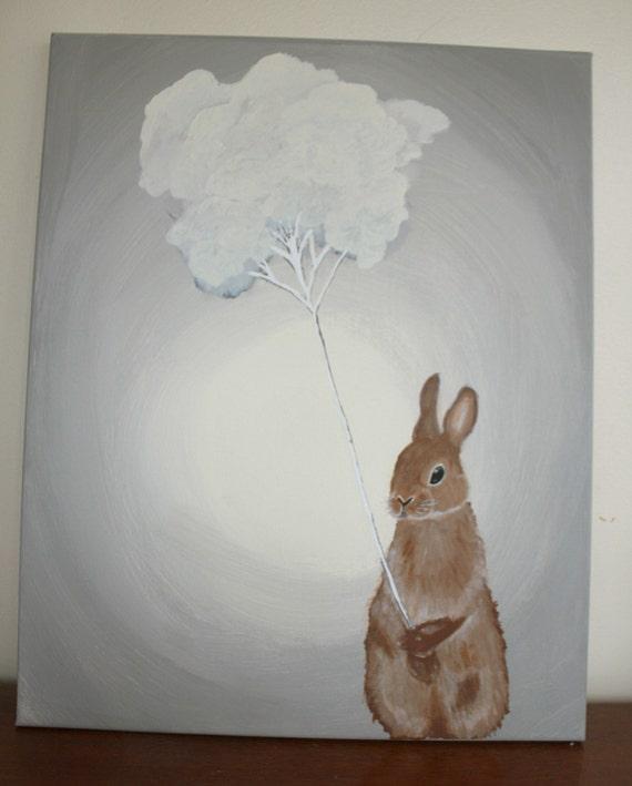 Bunny Balloon Painting