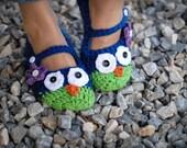 Crochet Owl Slippers