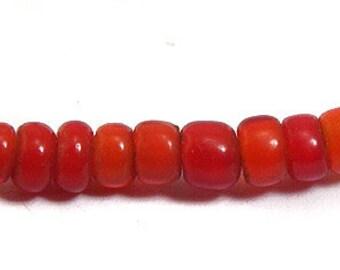 Venetian Red Maasai Whitehearts Trade Beads 71810 SALE WAS 12.50