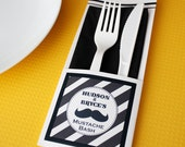 Printable Cutlery Pocket with Custom Color
