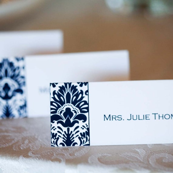 Printable Place Cards- Kayden Damask Collection