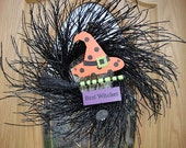 Halloween Clearance Sale    Best Witches Wreath    Halloween Wreath   Black Twig Wreath   SALE PRICED