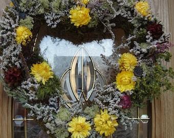 Valentine Wreath  Heart Wreath Floral Wreath  Dried Wreath  Valentines Day  Mothers Day  Dried Wreath  Valentine Gift