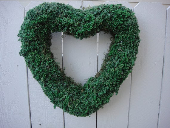 Heart Wreath with Green Pepperberries