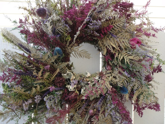 Untamed Natural Wreath   Fragrant Wreath    Hand Crafted Wreath   Front Door Wreath