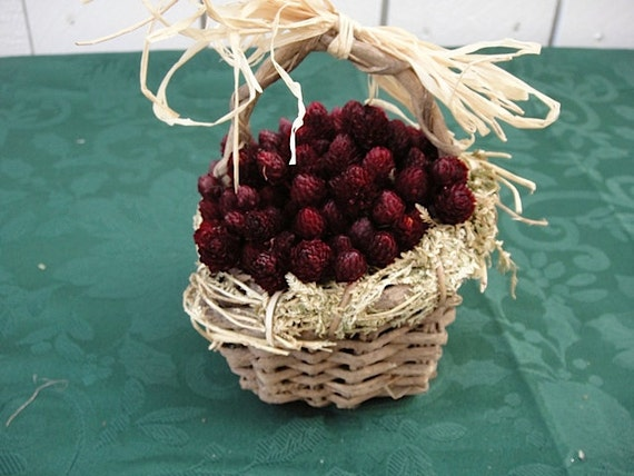 Dried Floral Basket     Wedding     Flower Girl Basket For Rustic Weddings   NOW ON SALE   Hand Crafted Floral  Shipping Included