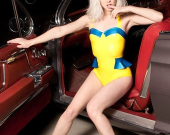 Lauren Halter Latex Swimsuit