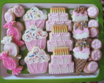 Birthday Sweets cookies
