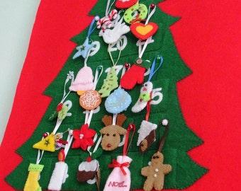 Felt Christmas advent calendar no.18 PDF pattern