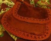 RESERVED:  Vintage Boho Red Italian-Made Handbag or Lg. Size Tarot Bag