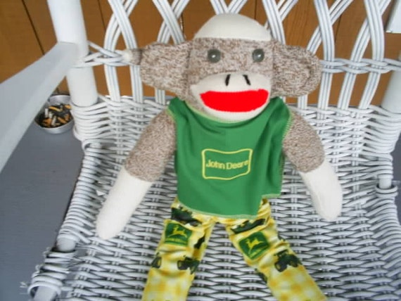 John Deere Sock Monkey Original Red heal also have Farmall Ford Moline and oliver