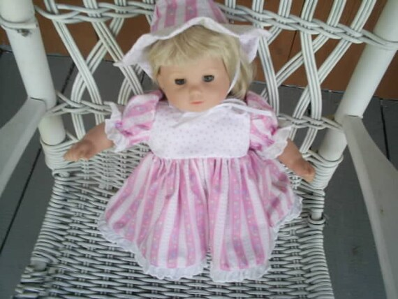 American girl bitty baby doll dress pants and hat