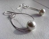 Simple Pearl Drop Earrings