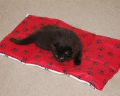 Paw Print Quilted Pet Blanket