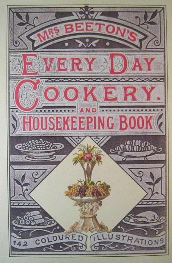 vintage cookbook mrs  beeton u0026 39 s everyday cookery 1865