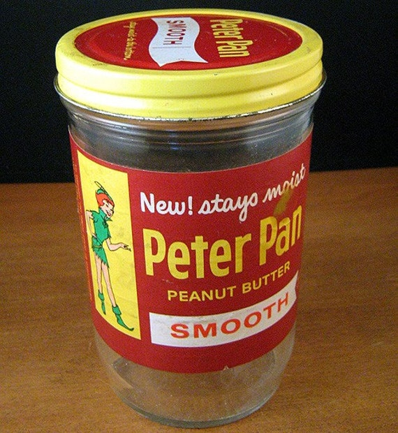 1961 Peter Pan Peanut Butter Jar Advertising by CookbookMaven