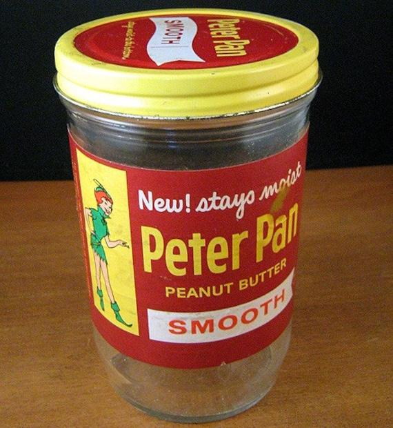 1961 Peter Pan Peanut Butter Jar Advertising Collectible